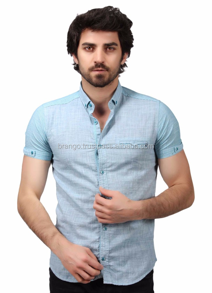 OEM Men's Fashion Half Sleeves Shirt 2017