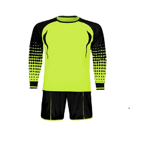 2016 latest design padded elbow goalkeeper uniforms