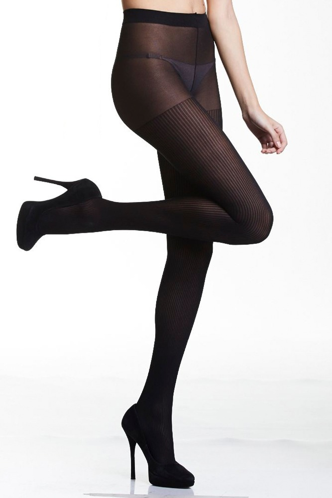 80 Denier Ribbed Tights/Pantyhose 99%Polyamide 01%Elastane