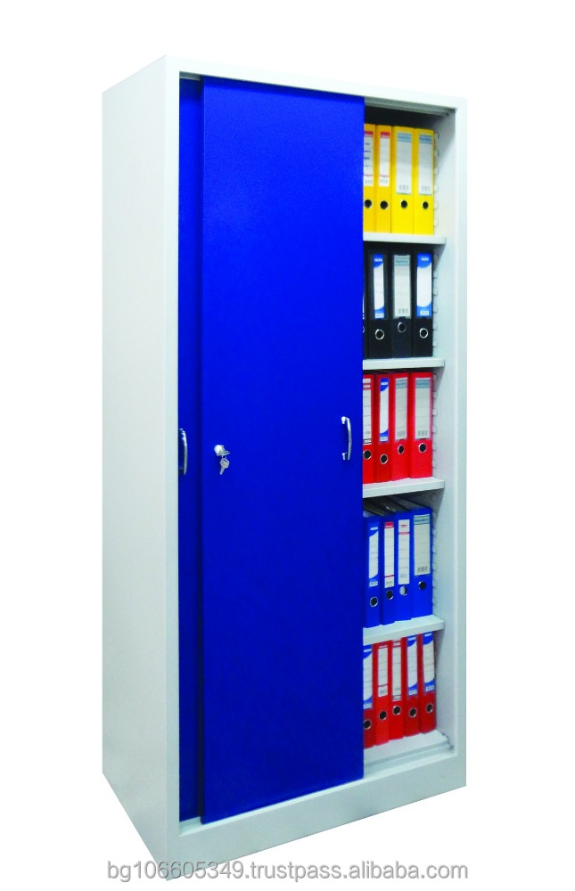 Sliding Door File Cabinet - Steel