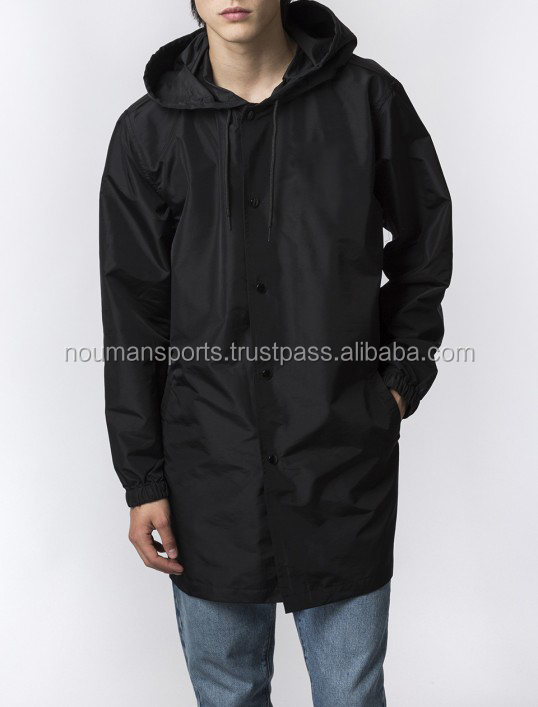 New Fashion Long Coach Jacket, Long Coach Jacket With Hood Cape Coach Jacket
