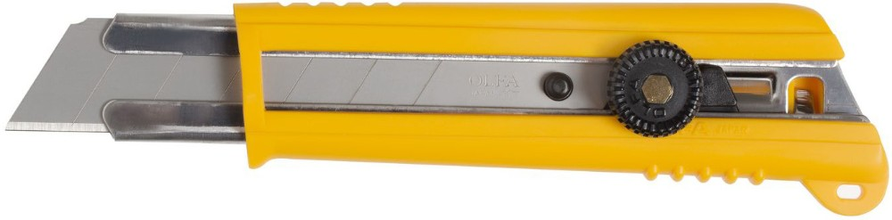 OLFA perfect knife with auto loading blade and plastic & rubber grip handle. Made in Japan (olfa cutters)