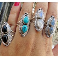 Hot Selling Boho Jewelry Gemstone Blue