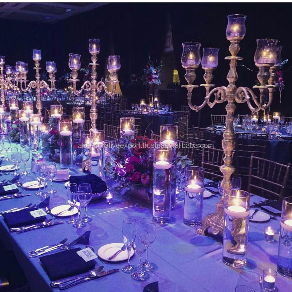 Silver Candelabra 5 Candle