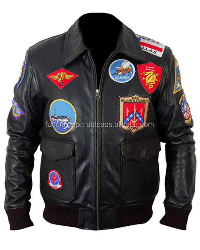 Cruise Designer Top Gun Brown Motorbike Leather Jacket FC-16850