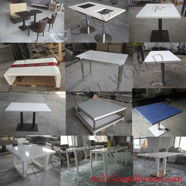 Fast Food CounterWhite Corian Table TopsFast Food Restaurant - Corian restaurant table tops