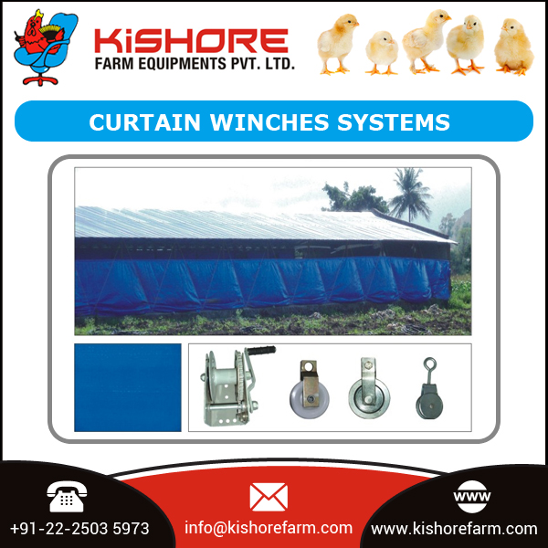 Best Quality Curtain Winches Systems for Poultry House