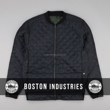 Lazer Quilted Bomber Jacket Custom Cheap Diamond Quilted Bomber Jacket