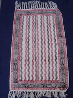 Cotton Hand- block Printed Striped Design Pattern Prayer Rug / Home textile Decorated Hotel Room Rug