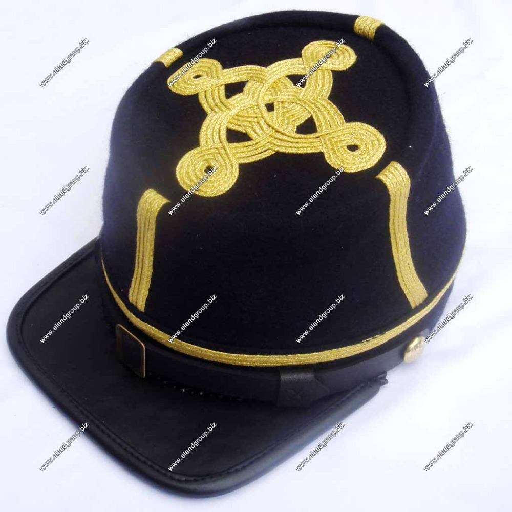 Civil War Officer'S Kepi Gold 4 Rows Braid | Civil War Confederate Kepi