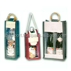 Two wine bottle new jute bag 2017