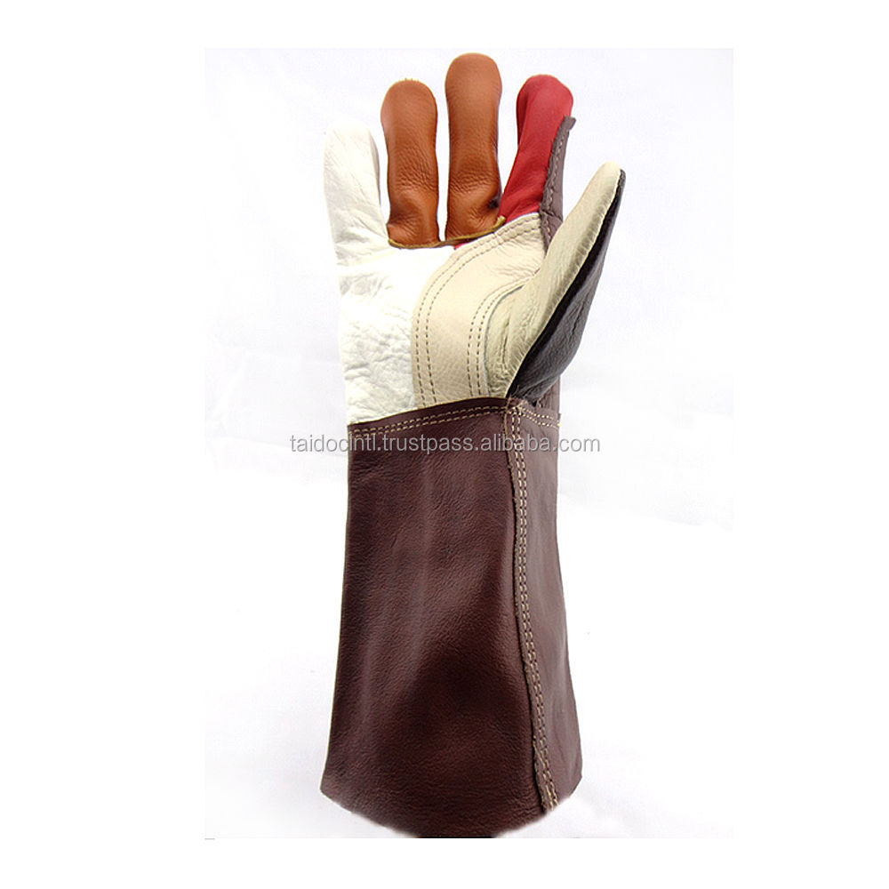 Cowhide welders argon arc welding wear-resistant gloves - first layer of leather