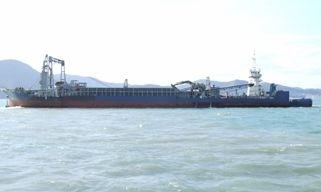 Pusher tug + sand carrier barge combo ship for sale ( Nep-sa0005)