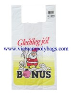 Vietnam trasparent white virgin Shopping t-shirt , singlet plastic bags with high quality