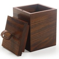 Wooden Canning Jar Sugar Pot Canister Storage Box Container with Lid