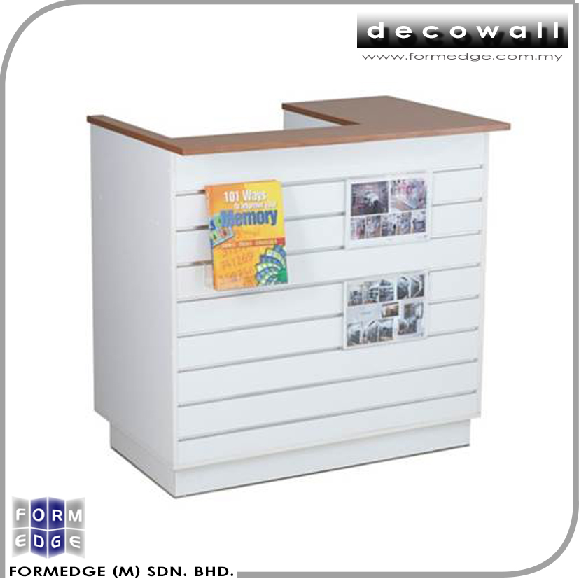 Affordable & Quality Modern Small Retail Slatwall Cashier Counter