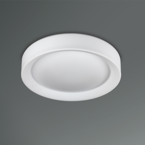 recessed fixture with opal glass