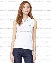 Custom logo mercerizing pique cotton women plain polo shirt ladies golf shirt wholesale polo shirts for women