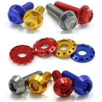 COLOURFUL PLASTIC BOLD NUT AND SCREW