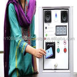 Solar Powered Coin Operated Water Dispenser ATM Machine, Card Operated Water Dispensing Machine