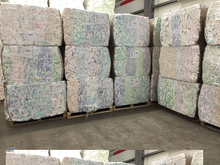 stock of Baby Diapers in Bales Made in Germany