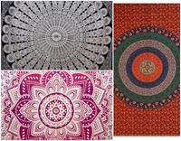 wholesale Lot Multi Pieces Astrology, Psychedelic Mandala Tapestry 100% cotton Wall hangings Dorm Decor Tapestries