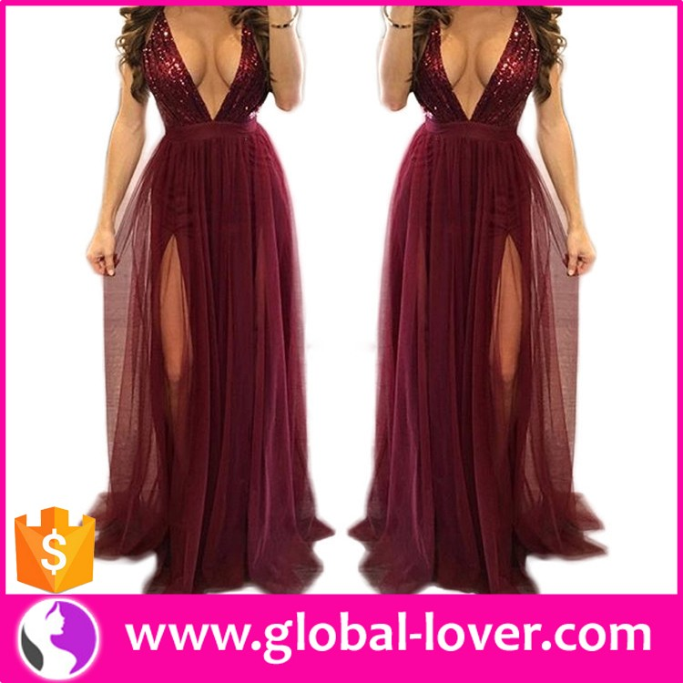 Wholesale 2017 fashion lace sexy long evening dress , cheap evening dress for fat women