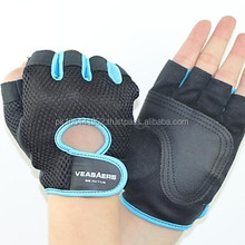 FULL PALM PROTECTION Bodybuilding Custom Leather Gloves / Workout GYM/NEW 2015 WEIGHT LIFTING GLOVES SWEAT MATERIAL BLACK & WHIT