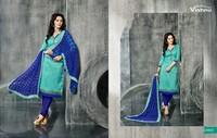 Designer Suit Chanderi Cotton Work Women Salwar Kameez In Wholesale Price Salwar
