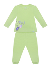 DGLH16-01 high quality fruit green girl's pajamas