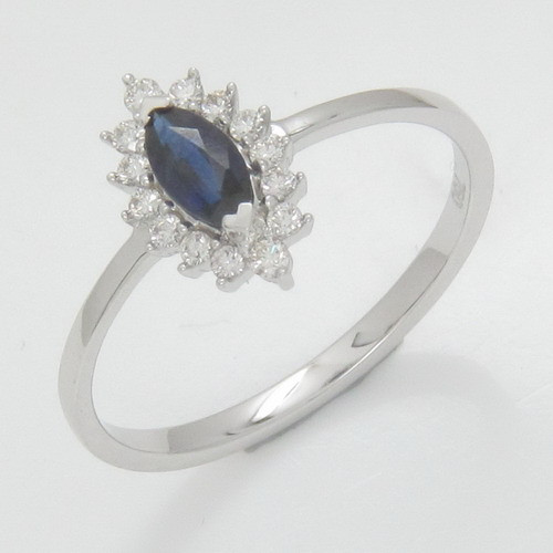 Fashion design for women finger ring with all size with sapphire from Thailand