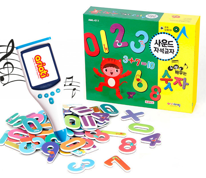 Korean Educational Toy Magnetic Sound Card - Numbers