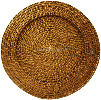 Sale wedding table decoration rattan charger plates wholesale from Vietnam