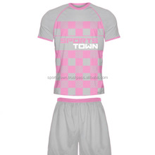 Custom stripe classic design soccer uniform jerseys design your own sublimated team soccer jersey