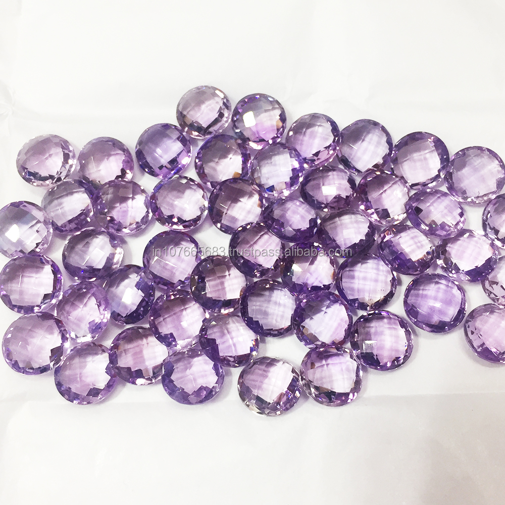 Top Quality AAA Checker Round Coin Briolette Purple Amethyst Wholesale