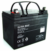 ULTRA MAX NPG35-12, 12V 35AH 20HR MAINTENANCE FREE GEL BATTERY
