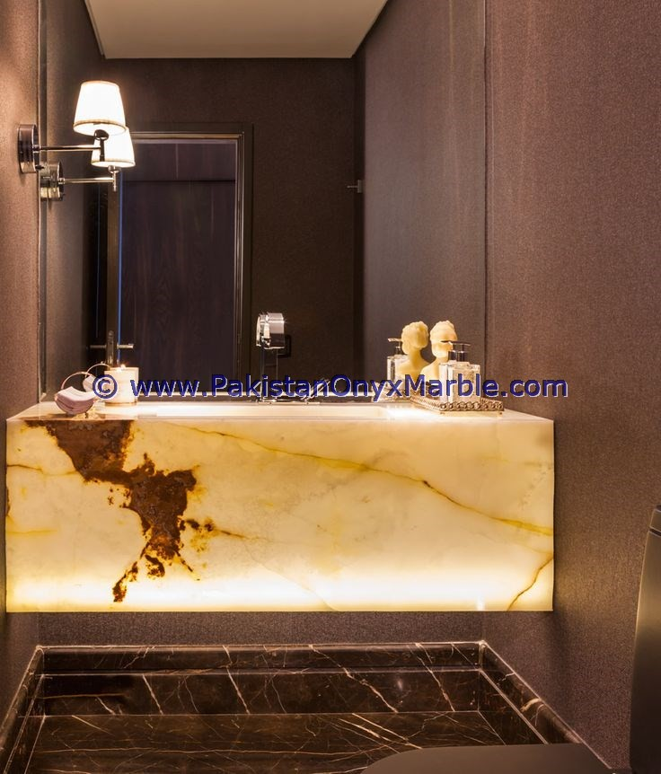 Pakistan Made Product BACKLIT ONYX PEDESTALS SINKS