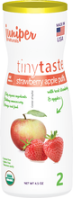 tiny taste organic strawberry apple melt-away puffs by juniper natural