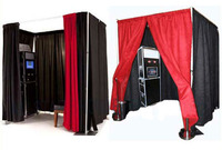 Portable Photo Booth Pipe And Drape/Stands used photo booth for sale