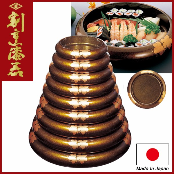 Japanese Sushi Plate for Restaurant use lacquerware / S.D.X Crepe
