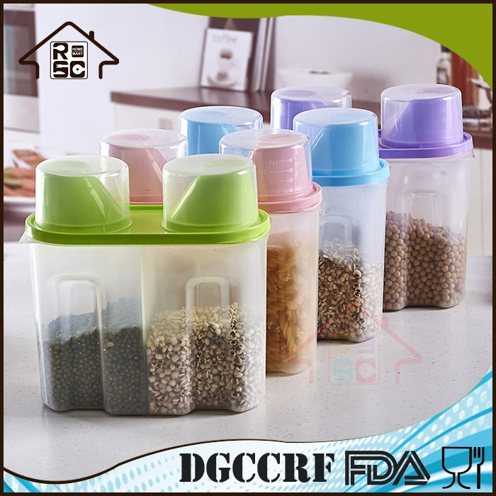 NBRSC Plastic Dry Dried Food Cereal Grain Dispenser Rice Storage Container Box