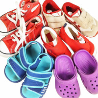 All types of reasonably priced used clothing and shoes in good condition