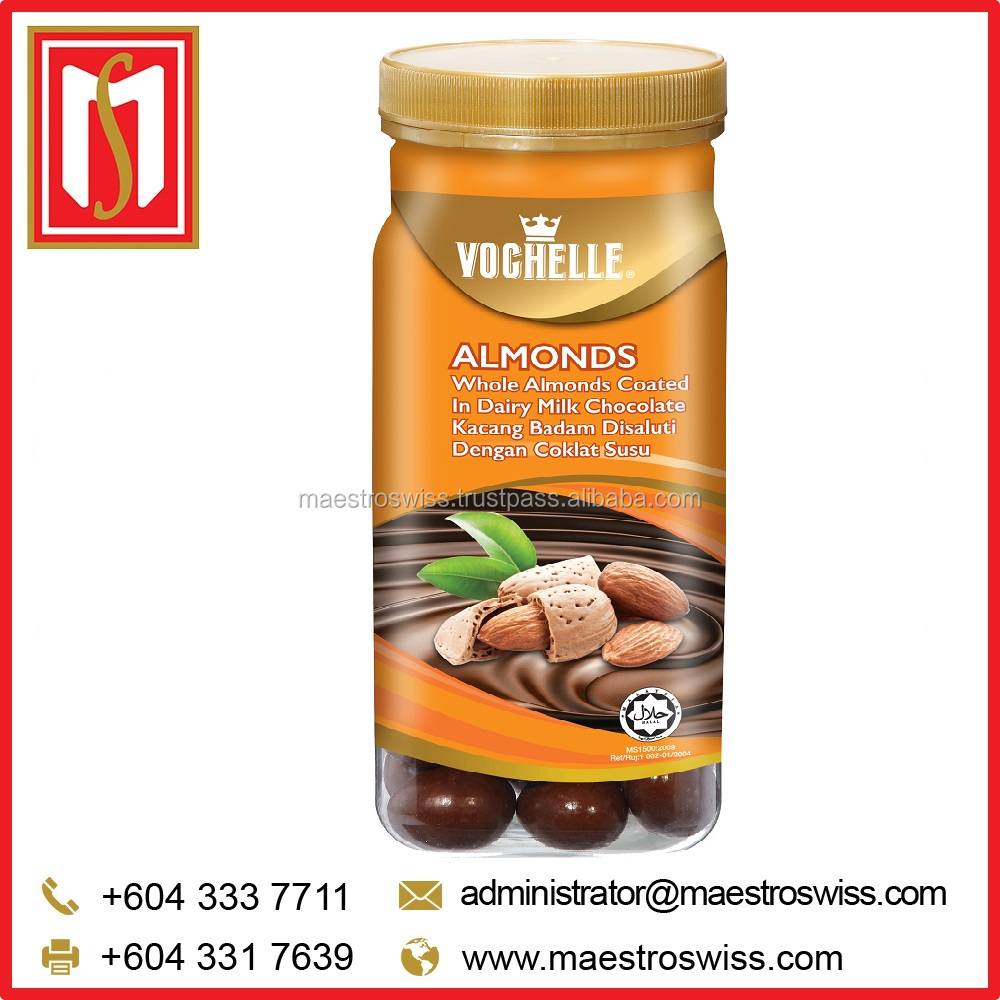 Vochelle Canister 330g Almonds Chocolate