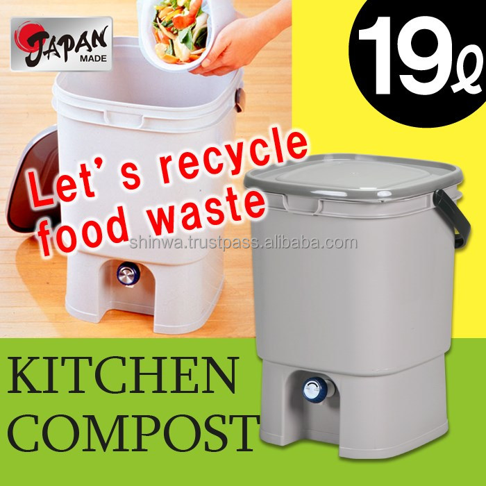 Kitchen compost 19L Japan made bokashi with handle ferment bio organic recycling garden purify pp bokashi Kitchen Comopst 20