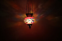 25362 Lovely roof hanging mosaic lamp or pendant mosaic lamp