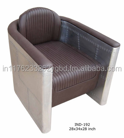 Pu Leather Living Room Single Aviator Sofa