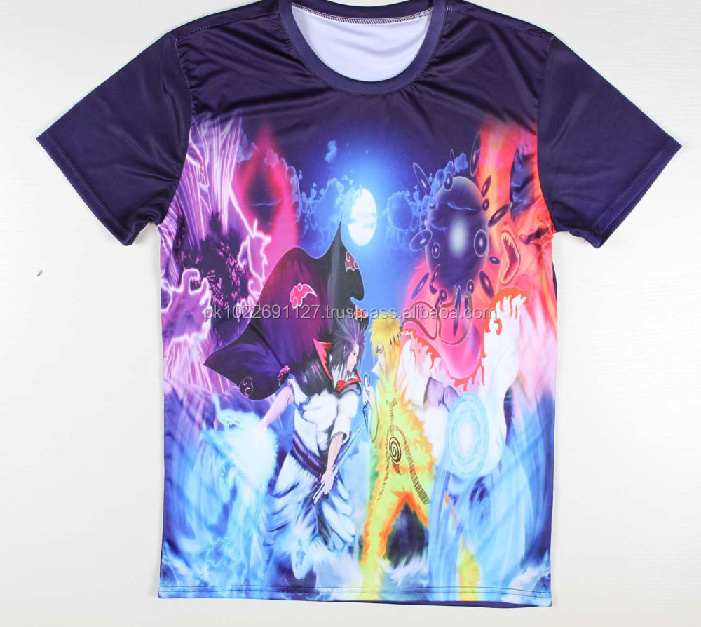 High quality oem design men clothing all over 3d sublimation printing custom made t-shirt
