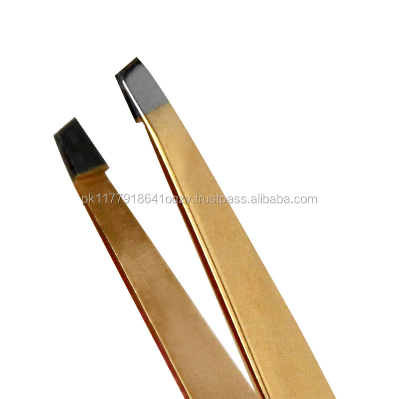 Eyebrow extension Gold applicator straight Tweezer