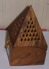 Cone Shape Wooden Incense Holder