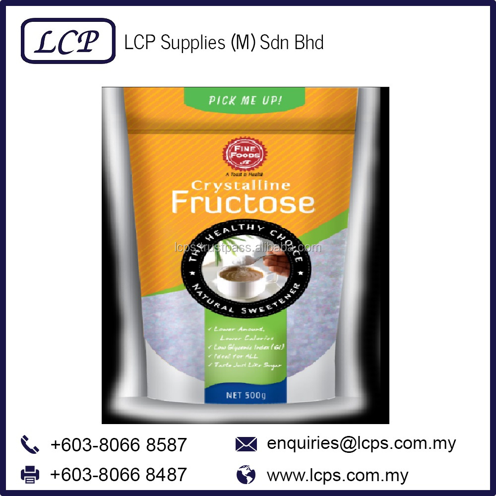 Crystalline Fructose Natural Sweetener Sugar